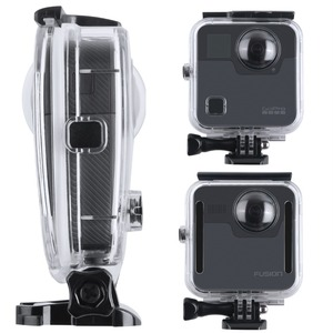 Image 5 - 40M Waterproof Housing Case Back Door For Gopro Fusion 360 Camera Underwater Box For Go Pro Fusion Action Camera Accessories
