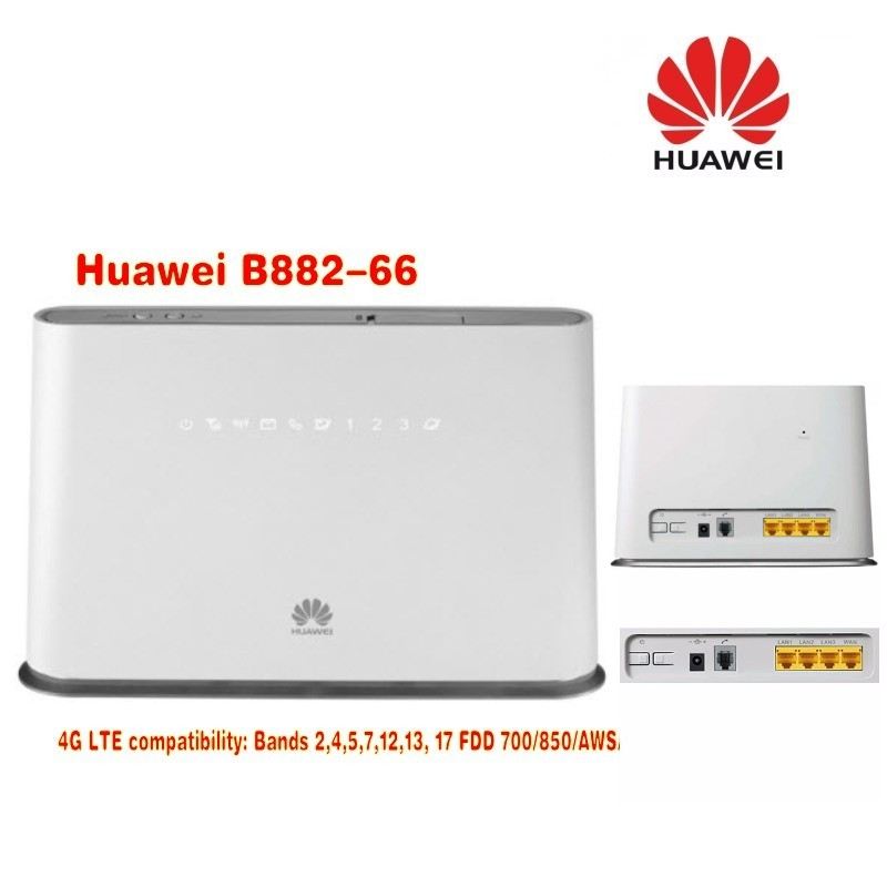 Huawei B882-66 4G LTE FDD Band2/4/5/7/12/13/17 (700 (a, b, c)/850/AWS/1700/1900/2600) routeur CPE sans fil Mhz WCDMA Band2/4/5