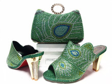 2016 Latest Italian African font b Women s b font Party Shoes And Bag Sets With