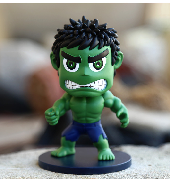 Funko POP The Avengers Hulk Marvel Mini Cute Action Figures Toys Anime Collection Furnish Ornaments Doll #D