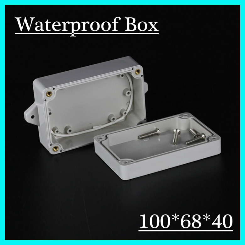 (1 piece/lot) 100*68*40mm Grey ABS Plastic IP65 Waterproof Enclosure PVC Junction Box Electronic Project Instrument Case waterproof abs plastic electronic box white case 6 size