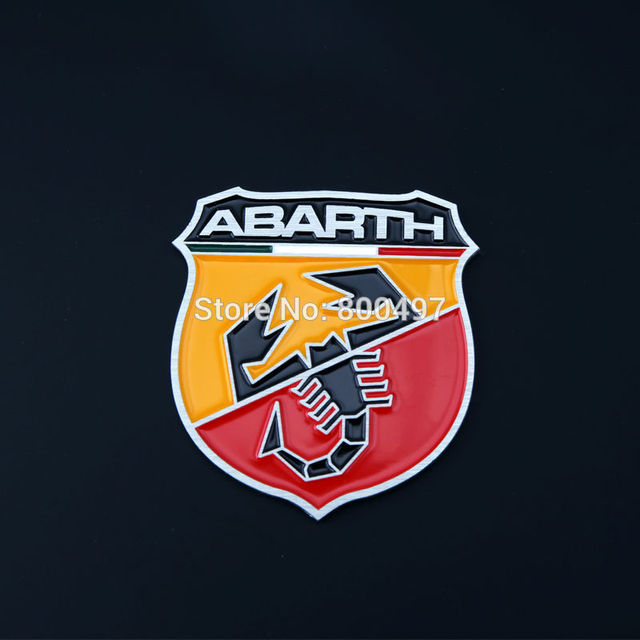 Newest 3D Aluminium Alloy Car Emblem For Fiat Abarth Car Accessories