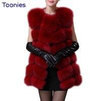 Зимние теплые Для женщин ватные пальто Искусственный мех жилет куртка длинный вязаный Искусственный мех пальто Куртки пиджаки без рукавов ...