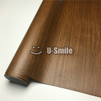 Oak Wooden Self Adhesive Vinyl Wrap For Wall Furniture Car Interior Size:1.24X50m/Roll(4ftX165ft)