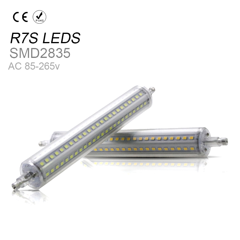 LED Light Tubo r7s led 118mm 10W 135mm 12W 189mm 15W 78mm 5W 2835SMD Horizontal Plug lamp LED Verlichting Repace Halogen lamp high power dimmable 189mm led r7s light 50w cob r7s led lamp with cooling fan replace 500w halogen lamp