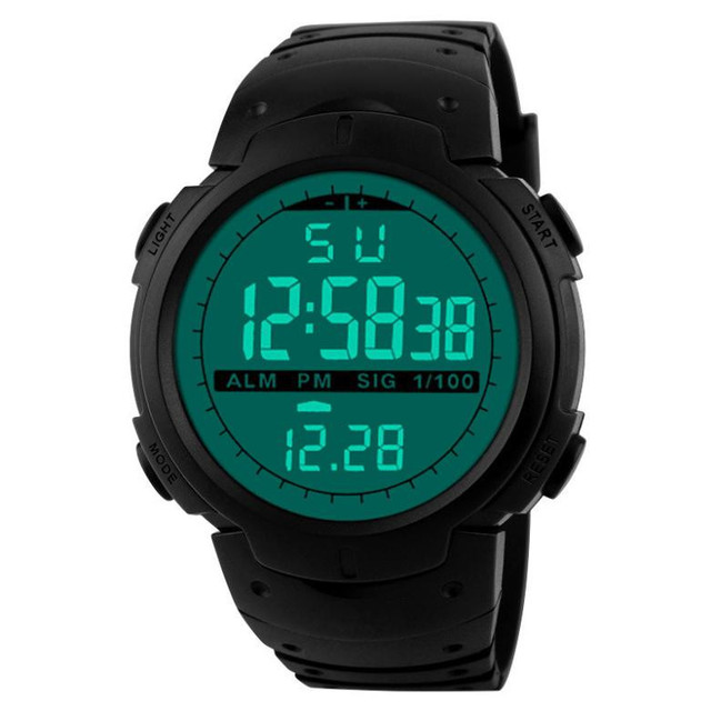 Fashion Men Watch Digital LED Waterproof Sports Alarm Date Quartz Wrist Watches 3#0919