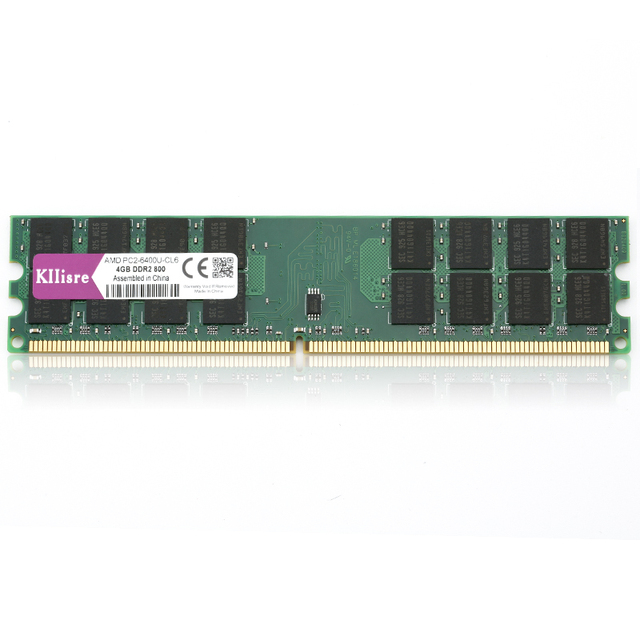 Kllisre ram DDR2 4 GB 800 Mhz PC2-6400 240Pin Dimm de Memória apenas Para AMD Ram De Desktop