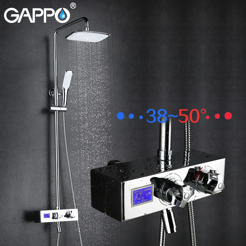GAPPO Sanitary Ware Suite Stainless Steel bath shower mixers shower set mixer tap Bath Shower taps waterfall shower