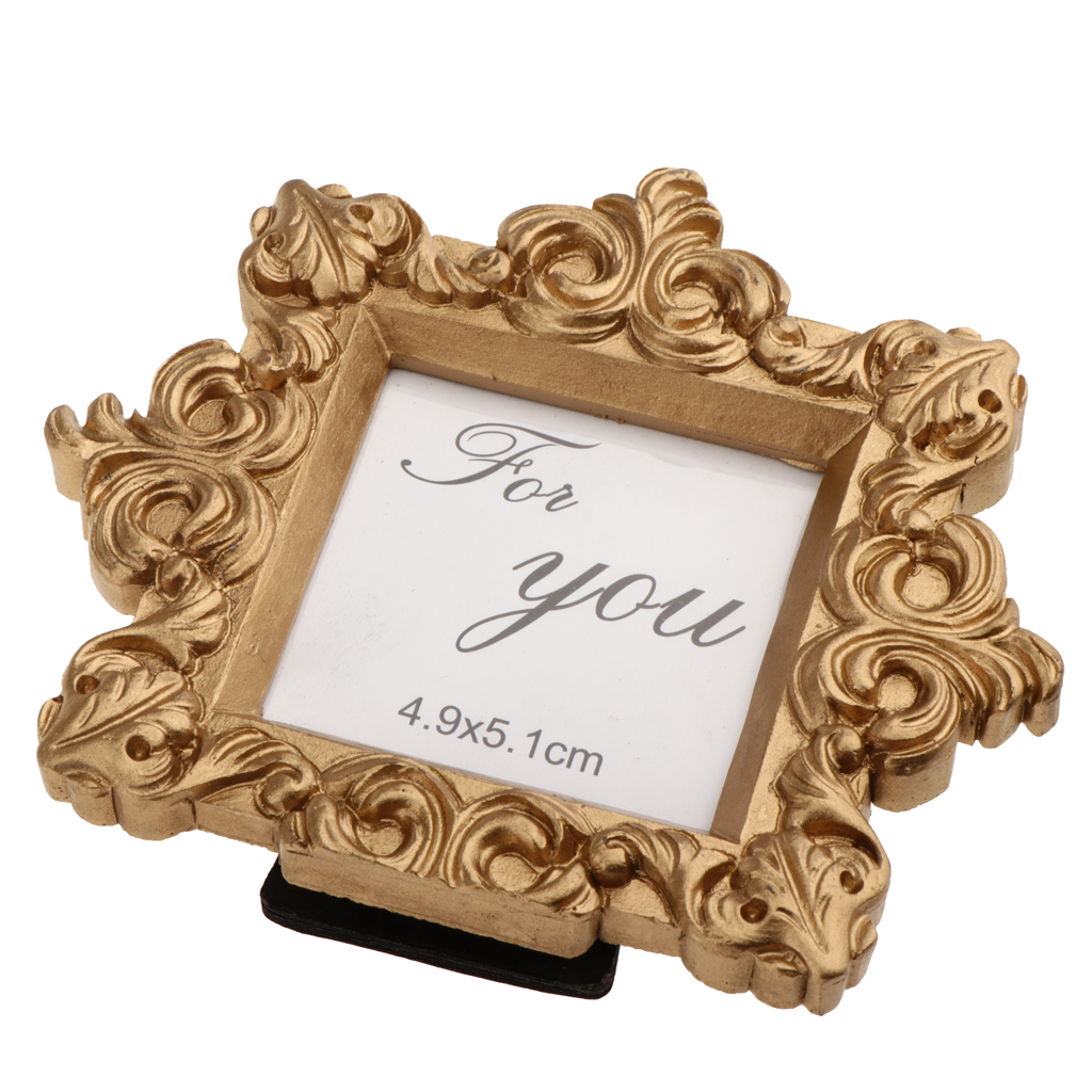 Vintage Gold Photo Frame Table Settings Wedding Birthday Accessories -9 x 10cm