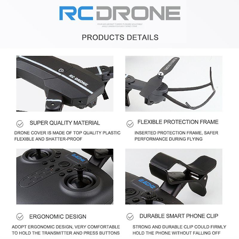 RC DRONE Mini Foldable Drone with HD Camera Wifi xs809hw X5SW E58
