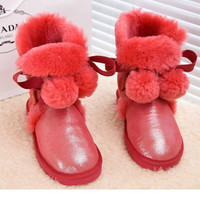Winter Shoes Woman Genuine Leather Women Boots Real Fox Fur Winter Boots Snow Boots Women S