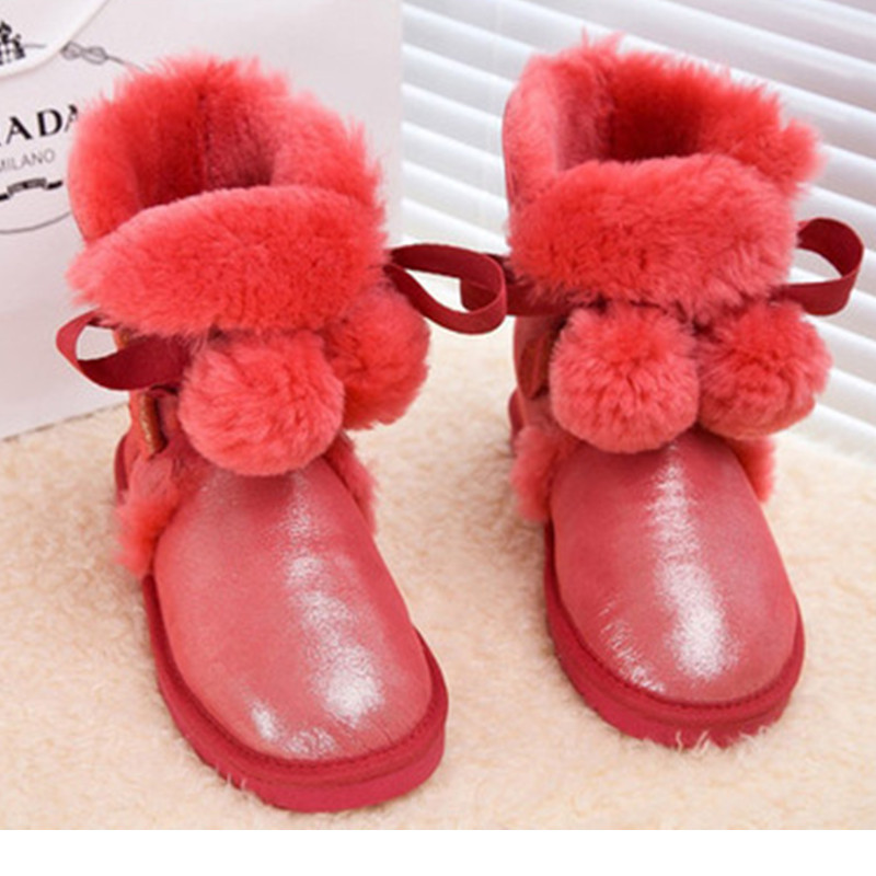ФОТО Winter Shoes Woman Genuine Leather Women Boots real fox fur Winter Boots Snow Boots Women's Shoes Ladies Boots Plus Size 44 45