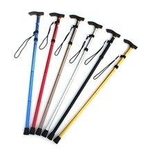 Алюминиевый металлический четырехсекционный трость легко регулируемый складываемый складной трость для прогулок Кемпинг Треккинг палка