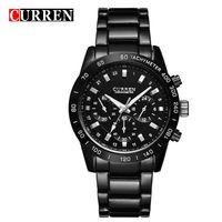 8017 CURREN Men Watches Top Brand Luxury Men Military Wristwatches Full Steel Men Sports Waterproof Watch