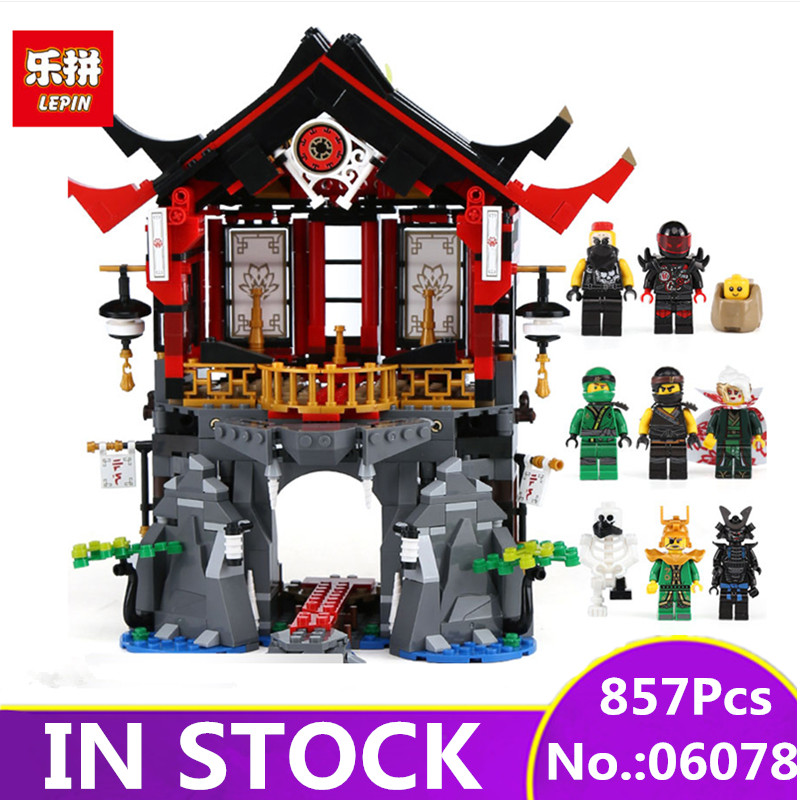 LEPIN 06078 857 Pcs Ninja Toys legpinglys 70643 Temple of Resurrection Set Building Blocks Bricks New Kids Toys Christmas Gift марк бойков 泰坦尼克之复活 возвращение титаника resurrection of titanic