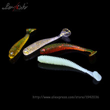 Hot Sale Set Soft Plastic Fishing Lure Bait Fake Artificial For Fishing Set 1.2g 70mm Wholesale Quality Products More Popular