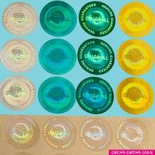 אישית הולוגרמה אמיתי מובטח ומקורי הולוגרמה מדבקת מרובה צבעים הגלובלי עיצוב Dia. 20mm 2000 pcs