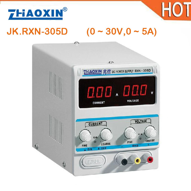цена на 2018 HOT Zhaoxin RXN-305D Series Linear Adjustable DC Power Supply 0 ~ 30V,0 ~ 5A