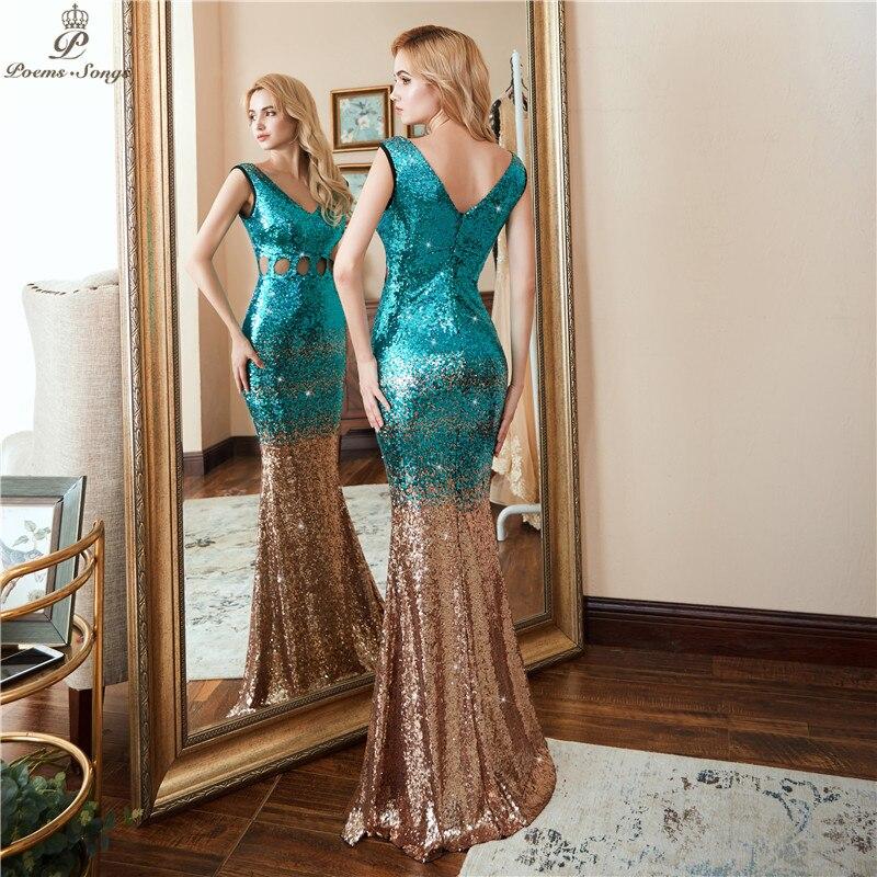 Poems Songs 2018 Formal dress Hollow Evening Dress vestido de festa ... 5ce5bf32a826