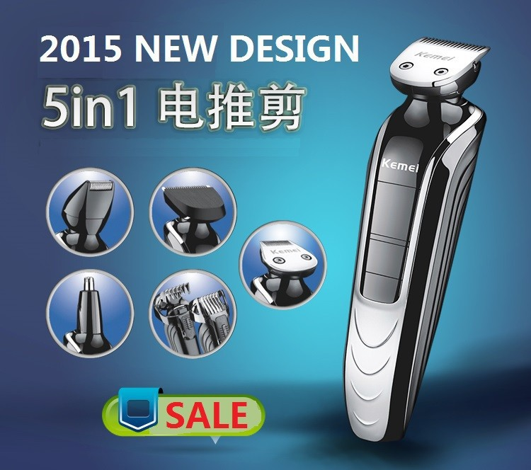 2015 quality kemei Waterproof Electric trimmer hair clipper trimer shaver beard nose rechargeable cutting haircut - Tina Jiang's store