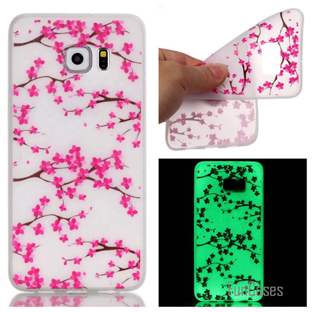 Hot! Fashion Fluorescence TPU Slim Phone Cases For Samsung Galaxy Note 5 N9200 Luminous  ...