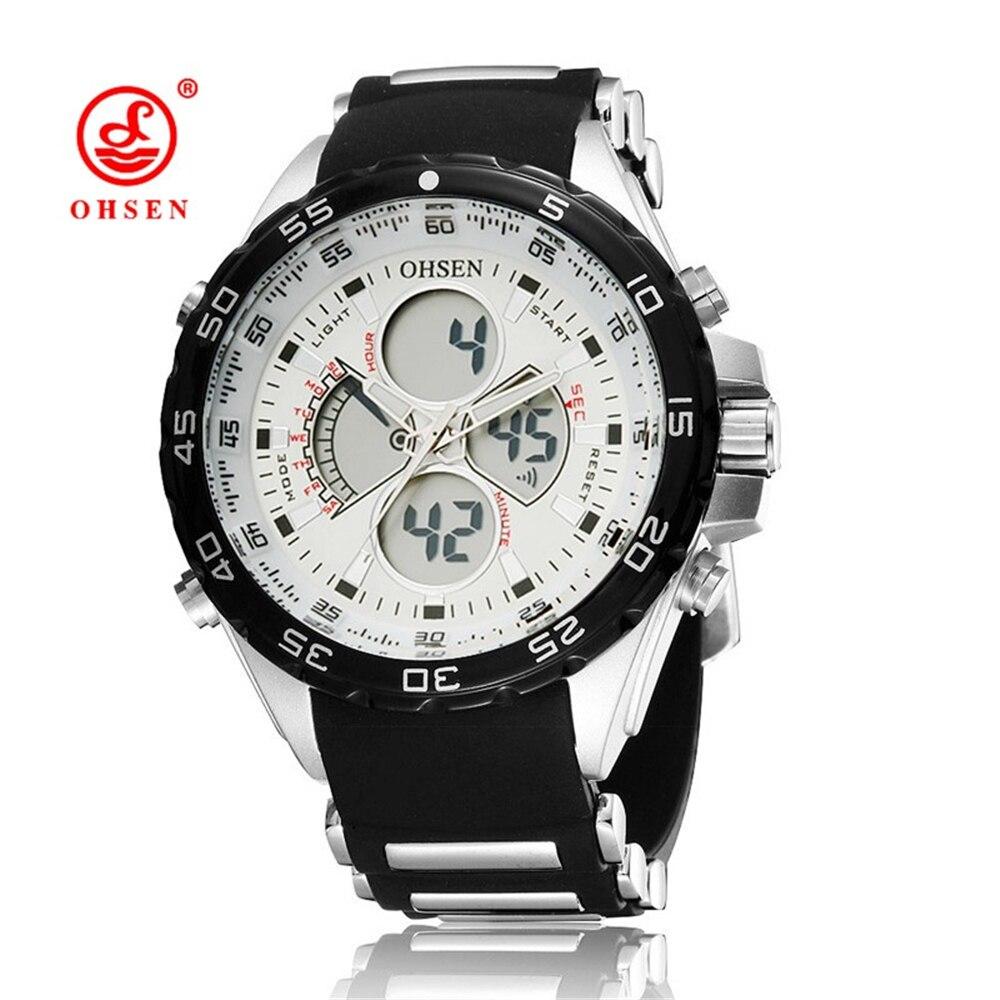 85ce0b2d4 2016 Nuevo OHSEN de moda de cuarzo Digital Led Relojes hombres Deporte  Militar reloj impermeable hombre