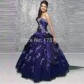 Baratos Vestidos Quinceanera 2016 vestido de Baile vestido de festa Apliques Plissado Tafetá Tulle Lace-up Back doce 15 Hot venda vestido longo