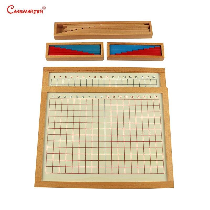 Montessori amical en bois jouets mathématiques apprentissage enfants matériaux Addition conseil de soustraction Maths jouet enfants 3-6 ans MA044-3
