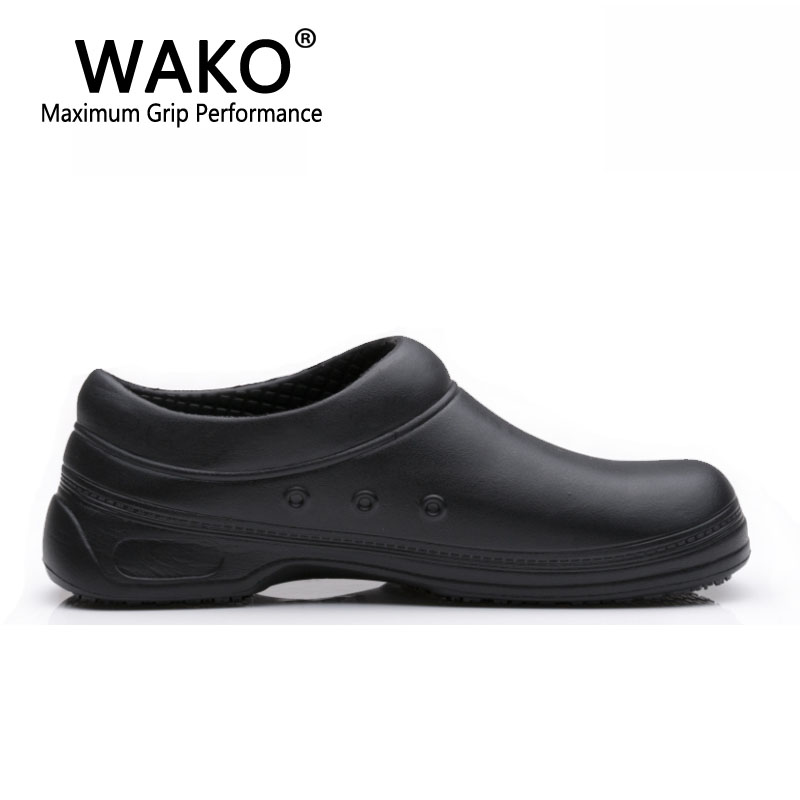 Image 4 - WAKO Male Chef Shoes Men Sandals for Kitchen Workers Super Anti skid Non Slipping Shoes Black Cook Shoes Safety Clogs Size 36 45-in Men's Sandals from Shoes