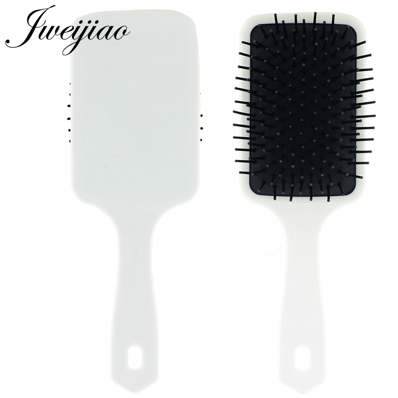 JWEIJIAO Custom Photo Massage Comb Personalized Woman Tangle Detangling Brushes Scalp Hairdressing Salon Hair Care Tool