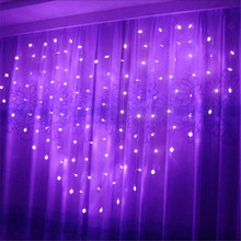 Led Christmas Lights 2M*1.5M Love Curtain Light AC 220V for Wedding Party Decoration LED Outdoor Decor