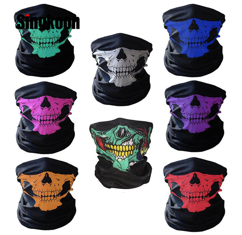 Face Mask Headwear Scarf Breathable Bicycle Game Skeleton Ghost Skull Design CAD