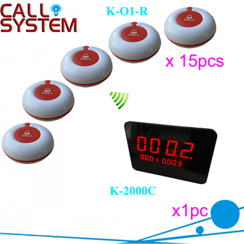 Hospital Call Bell System 1 full set of 1 pcs display and 15 pcs call button wireless and easy to install