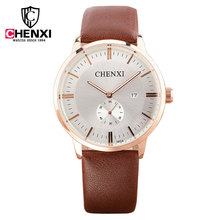 CHENXI Brand Luxury Top New Watches Men Fashion Small Dial Design Quartz Watch Male Leather Belt Wristwatch Relogio Masculino