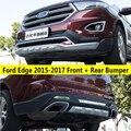 Подходит для Ford Edge 2015-2017 Передний + задний бампер диффузор бамперы защита для губ защита противоскользящая пластина ABS 2 шт