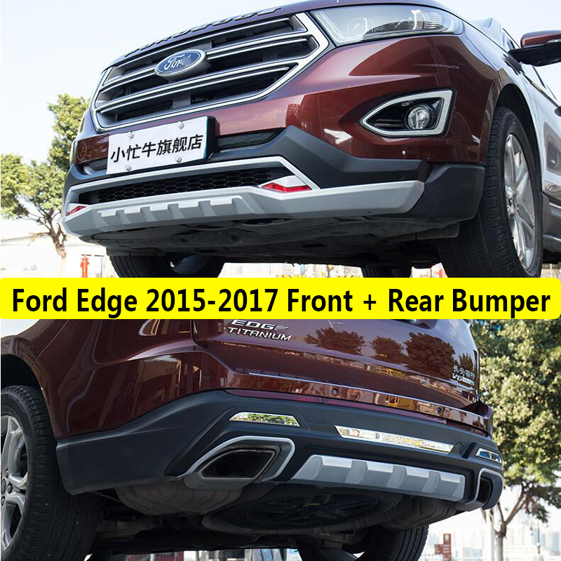 fit for ford edge 2015 2017 front rear bumper diffuser bumpers lip protector guard