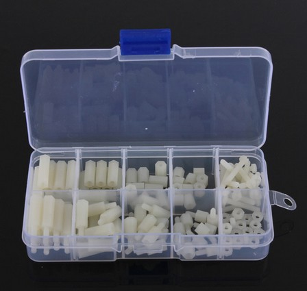 Screws 180pcs/lot M2 M2.5 M3 Black White Female Male Hex Nylon Standoff Spacer Column Pcb Motherboard Fixed Plastic Spacing Screws Set