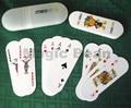 1 Unidades Naipes de Póquer con Recipiente De Plástico Al Por Mayor de Alta Calidad de Forma Ovalada Mujeres Niños 54 Tarjetas de Juego de Mesa de Póquer