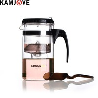 送料無料kamjove tp-茶カップベルトカンフー茶1000ミリリットルガラスティーポットエレガントなガラスカップフィルターカッ