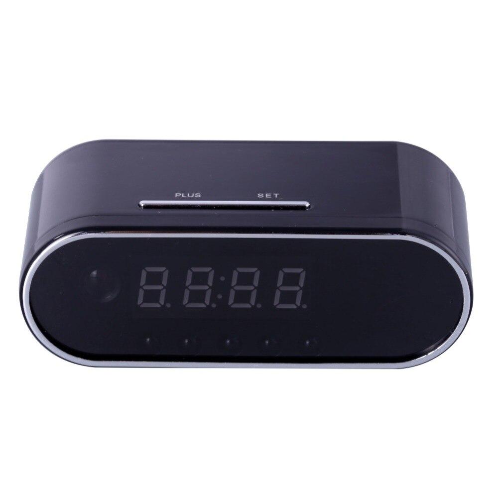 EDAL 1080 p H.264 Cámara del reloj de mesa alarma Mini cámara de infrarrojos de visión nocturna Wifi Cam IP reloj Mini cámara DV DVR videocámara