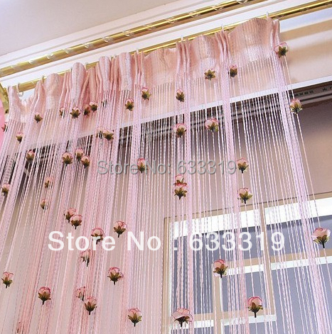 Curtains Ideas curtains decoration pictures : Aliexpress.com : Buy Lovely Pink Rose Line Curtain Entrance ...