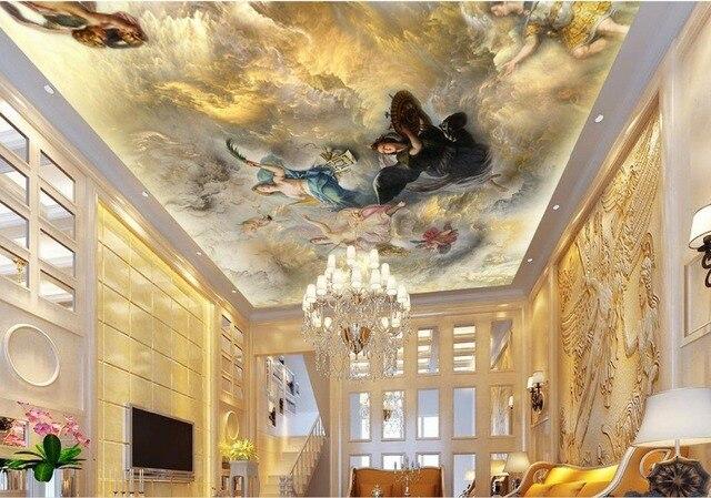 Engel tapete mural decken europ ischen malerei decke mural hintergrund papel parede mural tapete.jpg 640x640 - Engel Tapete