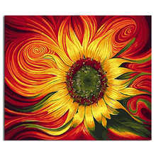 Living Room Decoration,Wall Photos For Room,Colorful Sunflower,Diy Oil Painting By Numbers