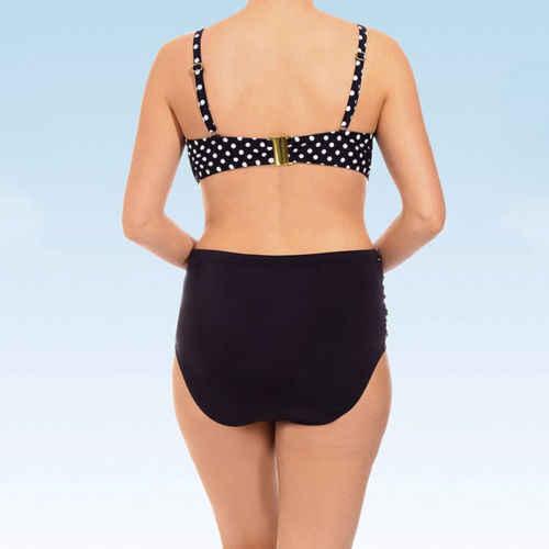 Plus size Dames Womens Bikini Set Stip Cross 2 Stks Badpak Hoge Taille Driehoek Badmode Grote Maat Badpak XL-5XL