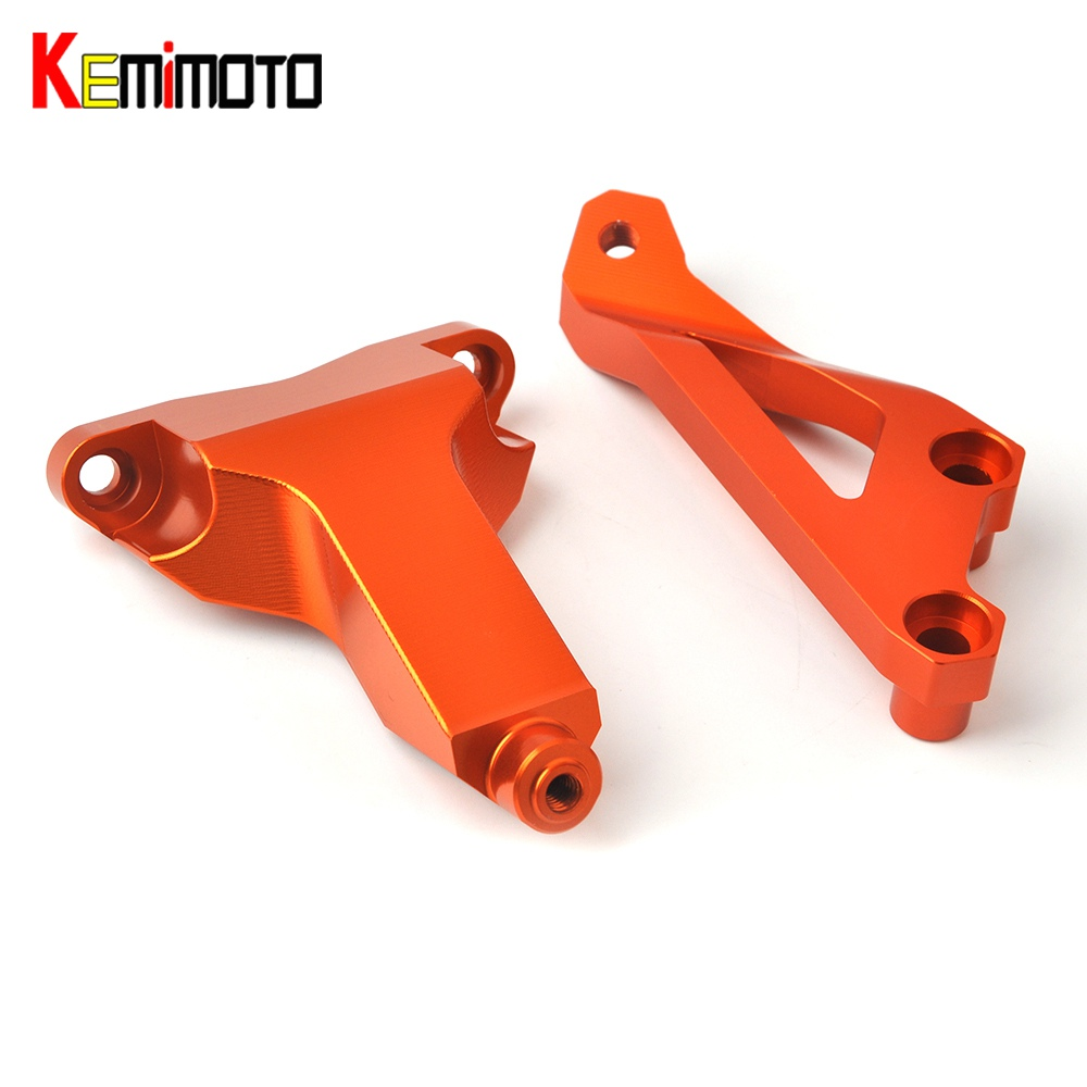 KEMiMOTO For KTM DUKE 125 200 390 2013 2014 2015 RC390 RC125 RC200 Motorcycle Accessories Steering Damper Mounting Bracket Kit motorcycle front rider seat leather cover for ktm 125 200 390 duke