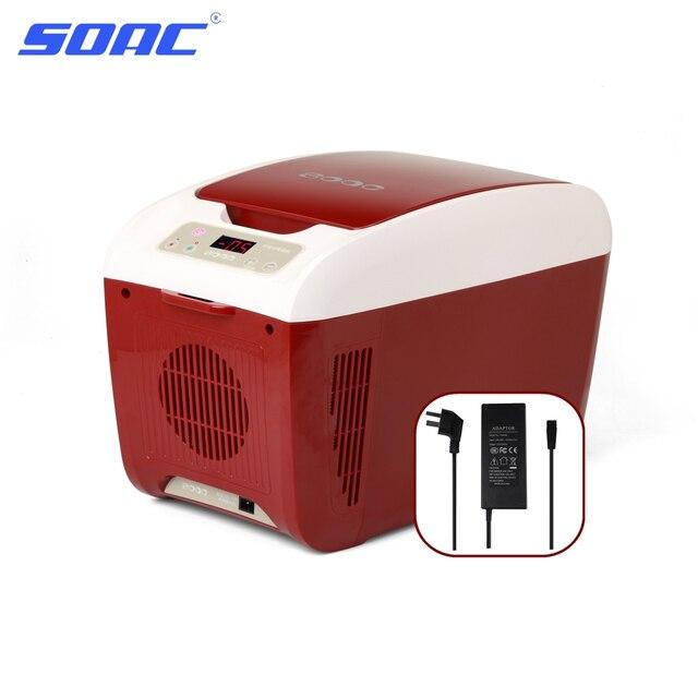 SOAC Small Refrigerator Freezer 8 Liter 220V/12V Portable Camping ...