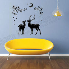 YOYOYU Wall Decal Creative Deer Christmas Sticker home decor art wall interior sticker mural for living room or bedroomZW55