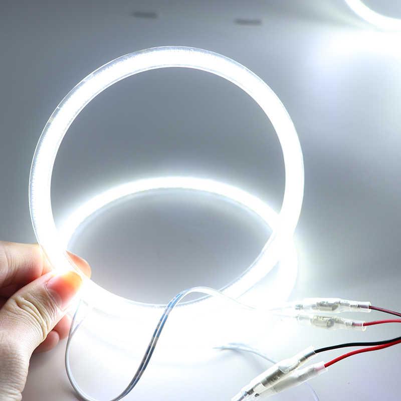 For Alfa Romeo 147 00-04 Halogen headlight  Ultra bright SMD white LED angel eyes 2600LM 12V halo ring kit daytime running light
