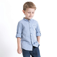 Boys Shirts 2018 New Spring Classic Long Sleeve Kids Striped Shirts For Boys Blouses England Style Children Clothing 10 12 Year