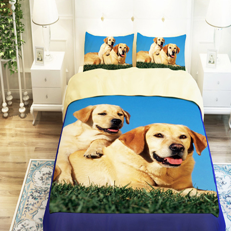 Dog-Bedding-Sets Duvet-Cover Linen Queen King-Size Kids Fashion Twin 4 3d-Oil Without-Filler